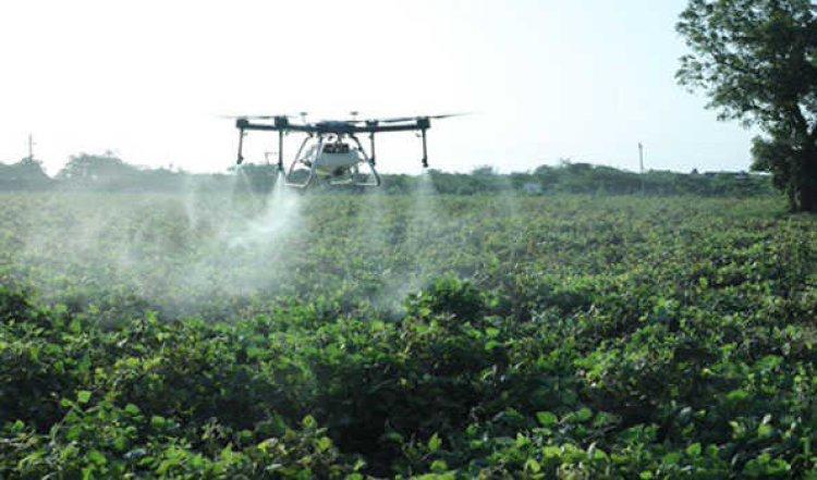देश में नैनो तरल यूरिया का ड्रोन से छिड़काव का सफल परीक्षण