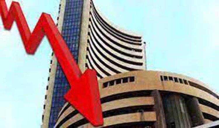 शेयर बाजार की तेजी थमी, सेंसेक्स 555 और निफ्टी 176 अंक लुढ़का