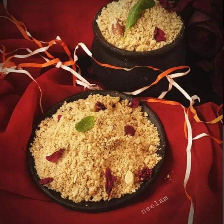ऐसे बनाए सिंघाड़े के आटे की स्वादिष्ट और पौष्टिक पंजीरी